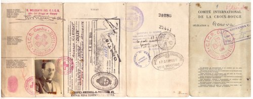 The forged passport Adolf Eichmann