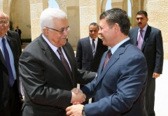 Mahmoud Abbas and King Abdullah II of Jordan