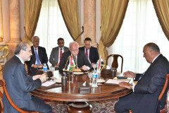 Meeting of the three foreign ministers in Cairo