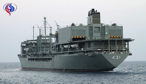 Iranian Navy's helicopter-carrying supply ship Kharg