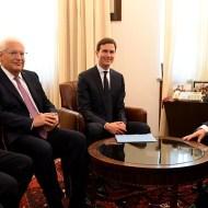 Jason Greenblatt, Ambassador David Friedman, and Jared Kushner with Prime Minister Netanyahu
