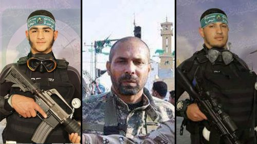 Three of the Islamic Jihad terrorists who died in the tunnel.