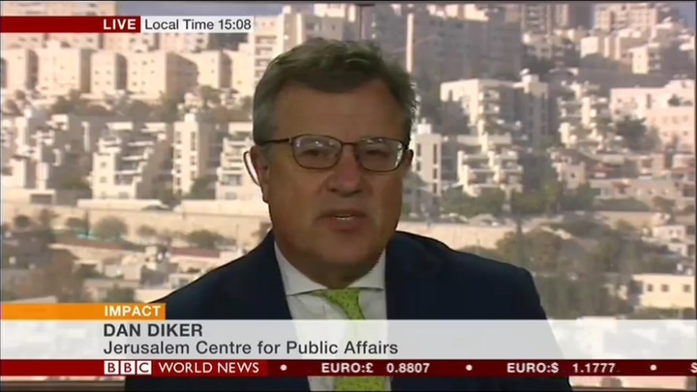 Jerusalem Center policy analyst Dan Diker assesses the Trump Recognition of Jerusalem as Israel's Capital on BBC World