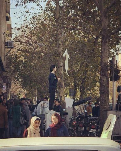 Protester in Iran