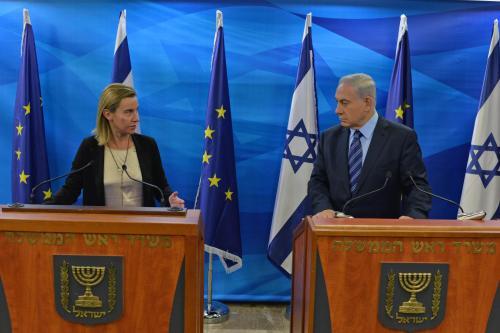 Benjamin Netanyahu and Federica Mogherini