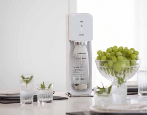 A SodaStream home carbonation machine