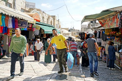 Market next to Damascus Gate.