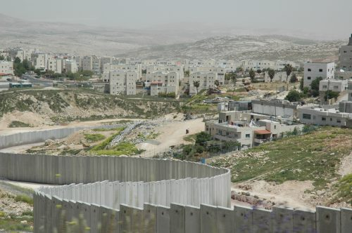 The separation fence in Pisgat Zev/Shuafat.