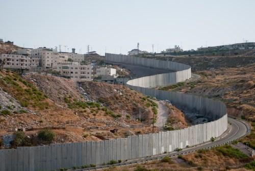 Separation fence next to Shuafat refugee camp.