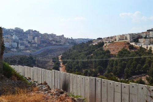 Separation fence in north Jerusalem.