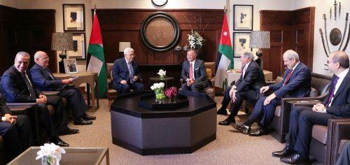 Abbas with King Abdullah II