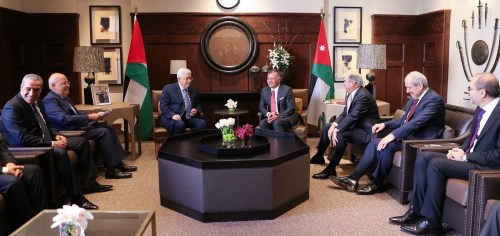 Abbas with King Abdullah II