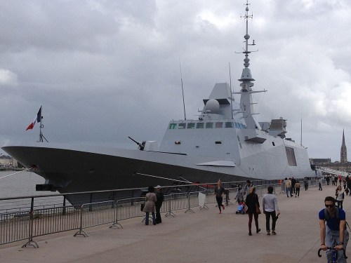 The French frigate Aquitaine