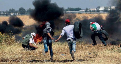 Gaza violence at the border with Israel