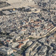Bird's eye view of the Jerusalem's Old City