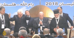 Abbas opens the Palestinian National Council meeting.