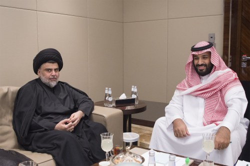 Al-Sadr meets with Saudi Arabia's Crown Prince Muhammed bin Salman, July 30, 2017