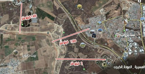 Map distributed to Gaza rioters via Facebook