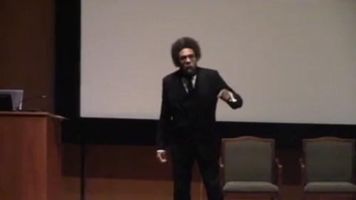 West speaking at Princeton University