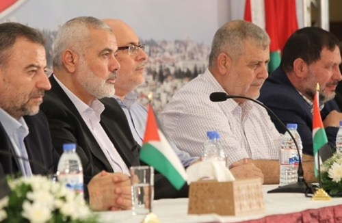 Hamas delegation in Cairo