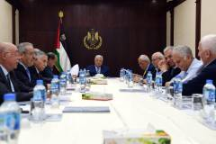 Palestinian Authority Cabinet meeting headed by Mahmoud Abbas