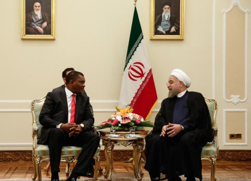 Hassan Rouhani and Justin Muturi