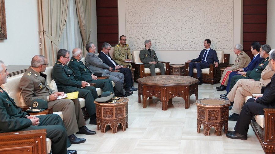Iran's Defense Minister in Damascus: Iran Will Take an Active Part in Rehabilitating Syria