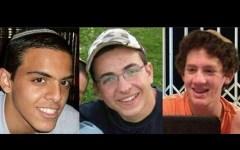The three murdered Israeli teens.