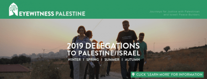 IFPB (Eyewitness Palestine) 2019 delegation to the Palestinian Authority and Israel.