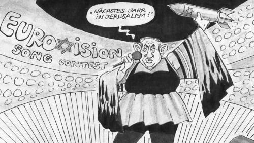 Cartoon by Dieter Hanitzsch