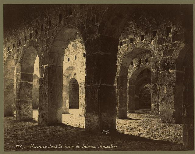 Solomon's Stables on the Temple Mount