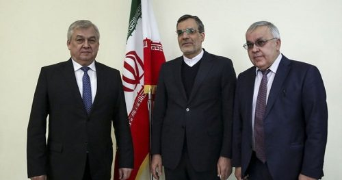 The Russian delegation in Tehran.