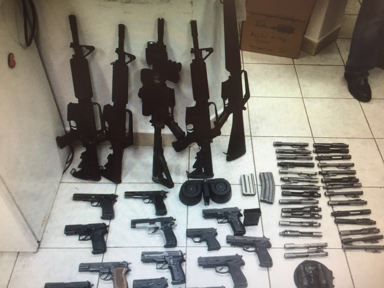 Weapons Smuggling from Jordan into the West Bank %