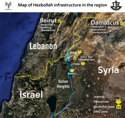 Map of Hizbullah infrastructure