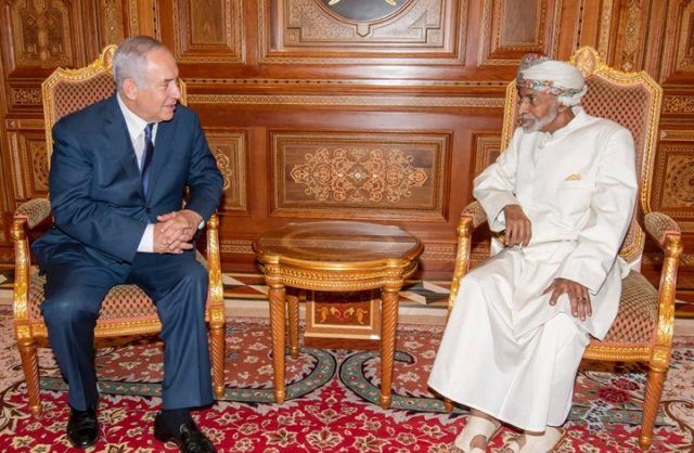 Benjamin Netanyahu meeting with Oman's Sultan Qaboos