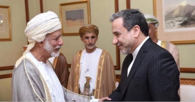 Iran's deputy foreign minister with the Sultan of Oman