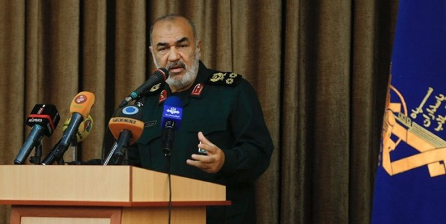 The IRGC commander Hossein Salami