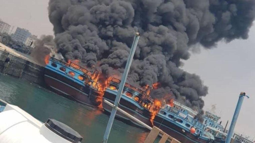 Mysterious Blazes on Six Iranian Ships in Iranian Ports