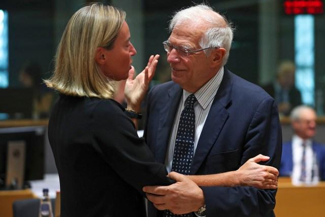 Josep Borrell, Federica Mogherini
