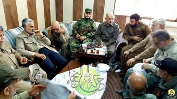 Falluja operations room with Qasem Soleimani