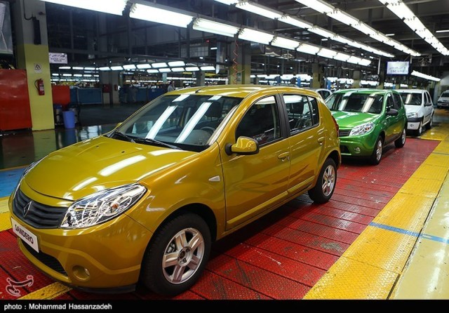 Renault factory in Iran