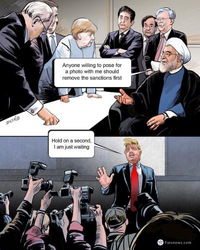 Iranian editorial cartoon