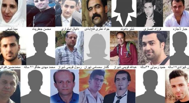 Photos of some of those killed by the Iranian regime.