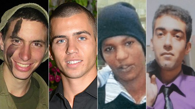 Hadar Goldin, Oron Shaul, Avera Mengistu, and Hisham al-Sayed.