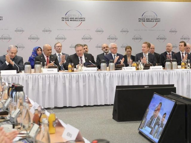 rime Minister Netanyahu at the Warsaw Conference on Peace and Security in the Middle East