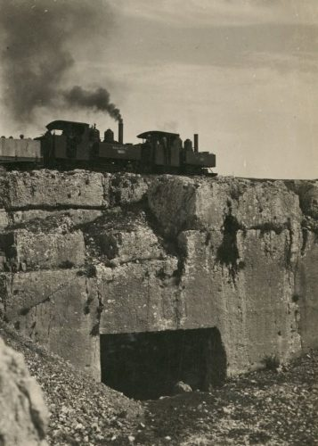 The Tomb of the Kings under a train on its way to Ramallah.