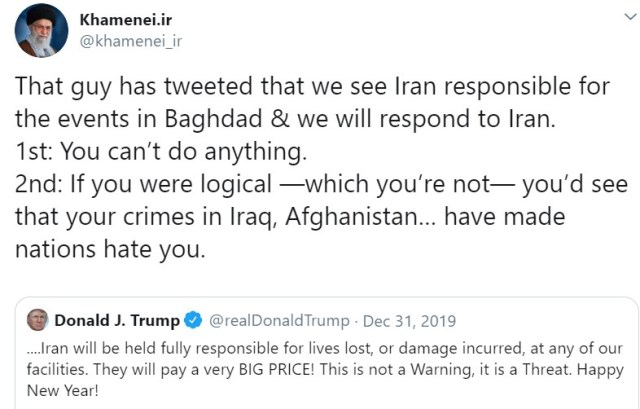 Khamenei Trump retweet