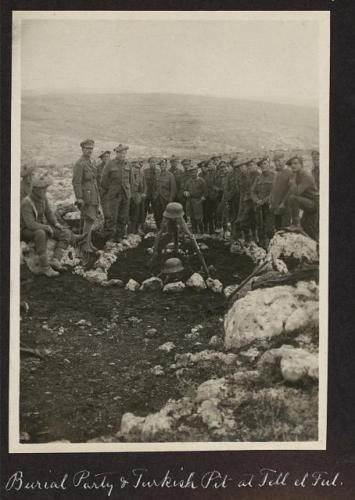 British soldiers after burying Turkish soldiers