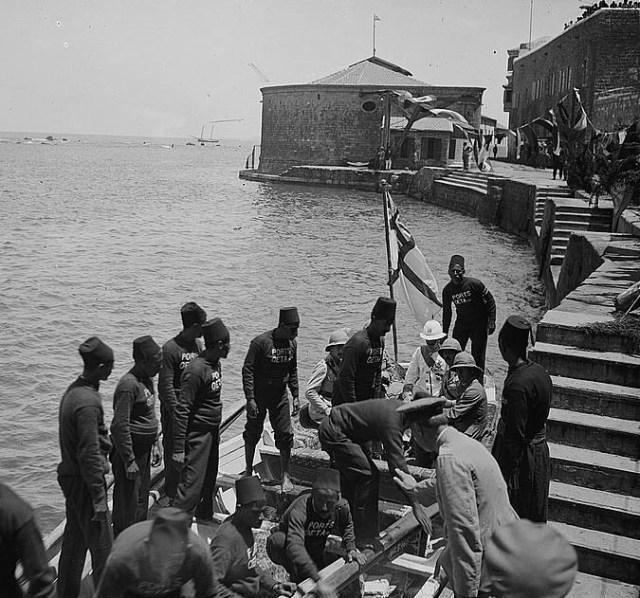 The arrival of Sir Herbert Samuel, British Mandate.