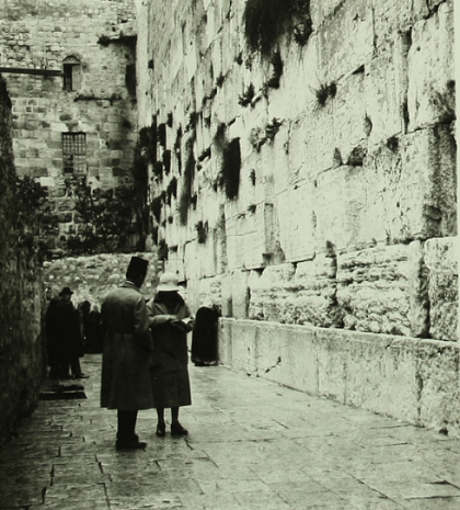 The Western Wall and the Mufti's window, circa 1920